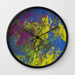Clouded Judgement - Abstract Modern Painting Wall Clock