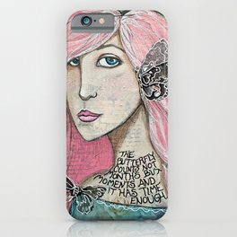 Time Enough Mixed Media iPhone Case