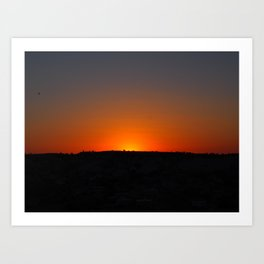 Red Sundown Art Print