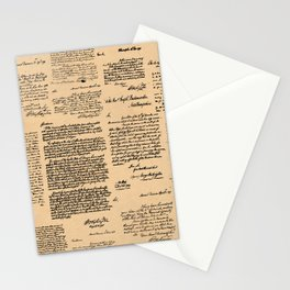 George Washington's Letters // Dark Paper Stationery Cards