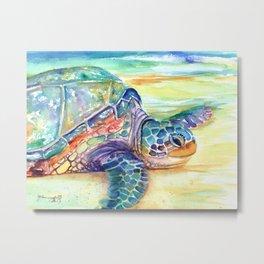 Rainbow Sea Turtle 2 Metal Print