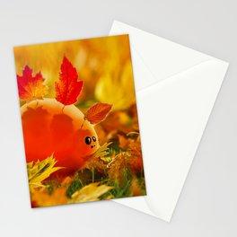 Autumn dino Stationery Cards