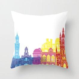 Bradford skyline pop Throw Pillow