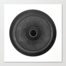 Demi-Stock White Piece 3 Canvas Print