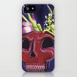 Tiki Zombie Punch iPhone Case