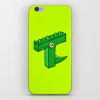 t rex iPhone & iPod Skins featuring T-Rex by Artistic Dyslexia