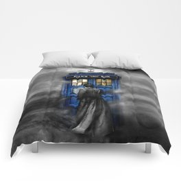 Tardis doctor who lost in the Mist apple iPhone 4 4s 5 5s 5c, ipod, ipad, pillow case and tshirt Comforters