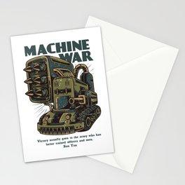 Steampunk Machine War Stationery Cards