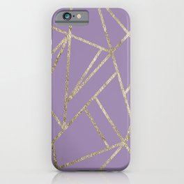 Classic Lavender Gold Geo #1 #geometric #decor #art #society6 iPhone Case