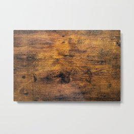 Stained Wood Metal Print