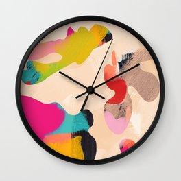 abstract bright color modern art Wall Clock