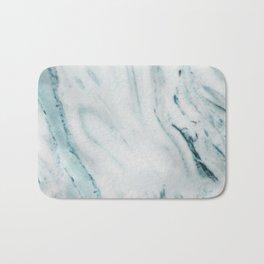 Teal Streaked Marble Bath Mat