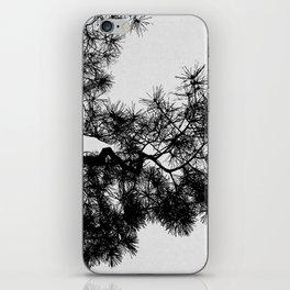 Pine Tree Black & White iPhone Skin