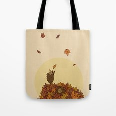 Autumn Hedgehogs Tote Bag