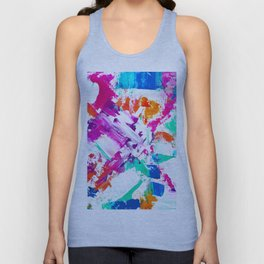 Forever and always 2 pink turquoise orange abstract acrylic paint Unisex Tank Top