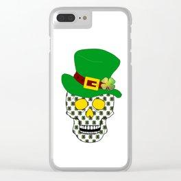 Irish Skull Clear iPhone Case