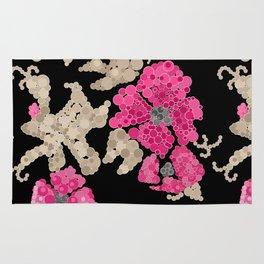 Pointillism. Flowers Rug