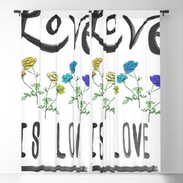 Love is Love Blackout Curtain