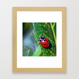 Ladybug Leaf | Painting Framed Art Print