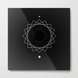 Sun Geometry Metal Print