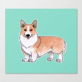 Pembroke Welsh Corgi dog Canvas Print
