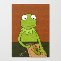 kermit Canvas Prints featuring Kermit by Sylvie R.
