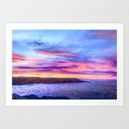 Biscay Bay sunset Art Print