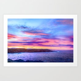 Biscay Bay sunset Art Print
