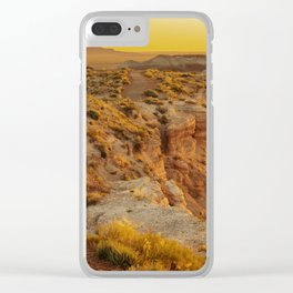Blue Mesa Trailhead at Petrified Forest National Park Clear iPhone Case