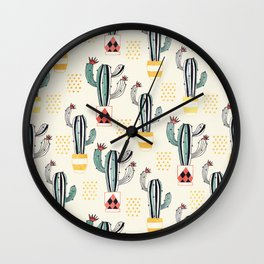 Cactus in a Pot small-scale Wall Clock