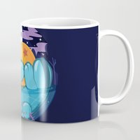 dragonball z Mugs featuring Quagsire & Dragonball by Valechu