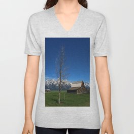 At The Mormon Row Unisex V-Neck