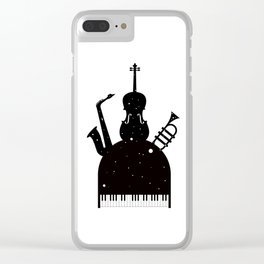 Jazz in the space Clear iPhone Case
