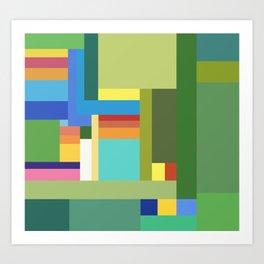 Green Geometry Art Print
