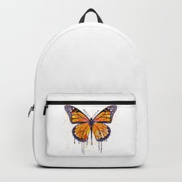 Monarch Butterfly watercolor Backpack