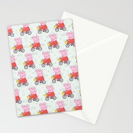 Peppa Pg Pattern 10 Stationery Cards