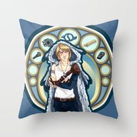 digimon Throw Pillows featuring Digimon Cards: Matt by Dralamy