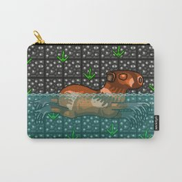 Swimming Capybara Carry-All Pouch