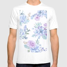 Pastel Succulents #society6 #buyart White Mens Fitted Tee MEDIUM