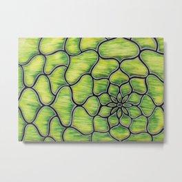 Green Flower Metal Print