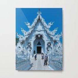 The White Temple (Wat Rong Khun), Chiang Rai, Thailand Metal Print