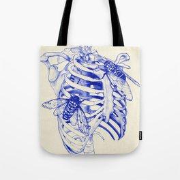 collarbone blue Tote Bag