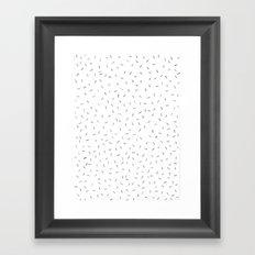 Sporadic Lines Framed Art Print