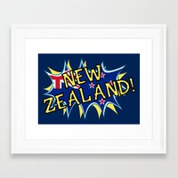 new zealand Framed Art Prints featuring  New Zealand  by mailboxdisco