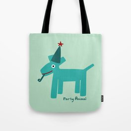 Party Animal-Teal Tote Bag