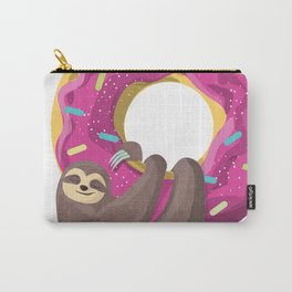 Cute sloth hanging from the donut Carry-All Pouch
