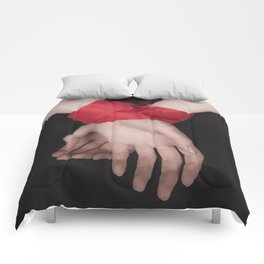 Red Ribbon Comforters