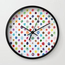 Concentric Confetti Polka Daubs Wall Clock