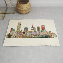 oklahoma city skyline Rug