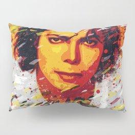 M Jackson | Pop art portrait | Old school collection Pillow Sham